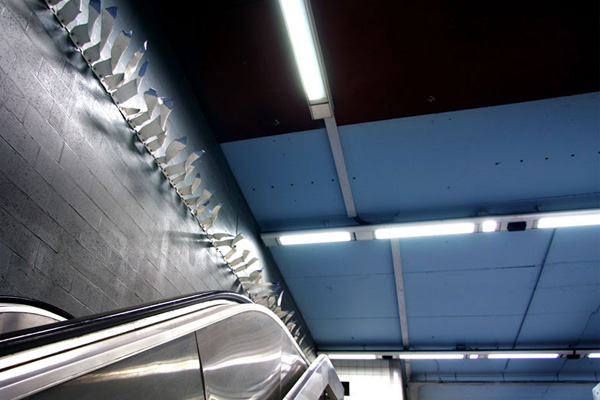 Brussels, Georges-Henri premetro station, 2009-2010