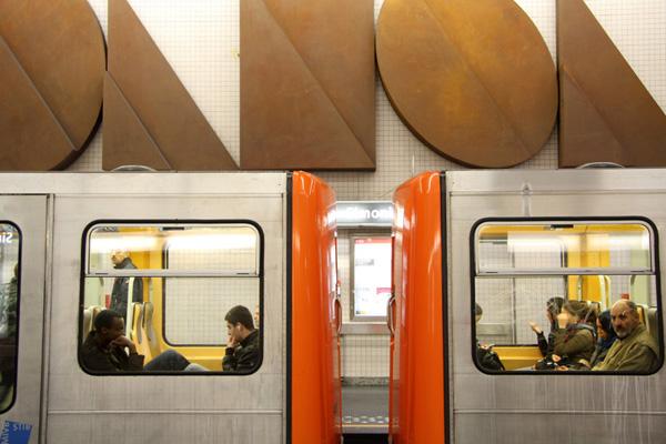 Brussels, Simonis metro station, 2009-2010
