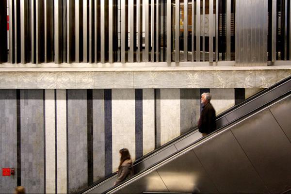 Brussels, Roodebeek metro station, 2009-2010